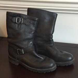 Frye Natalie Mid Engineer Shearling Lined size 8